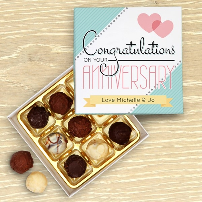 Picture of Anniversary Congratulations Personalised Chocolate Box