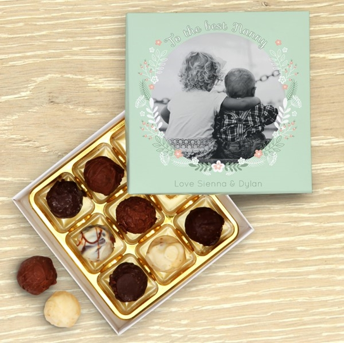 Picture of To the best Nanny Personalised Chocolate Box