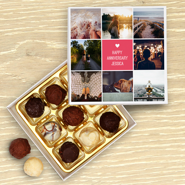 Picture of Multi Photo Personalised Chocolate Box