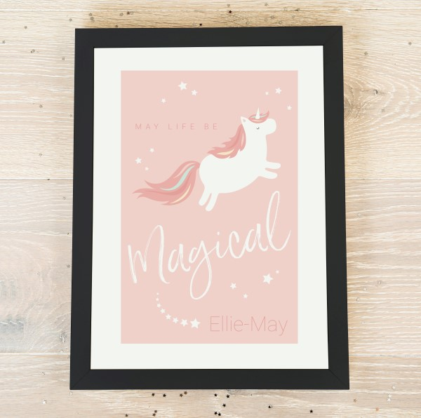 Picture of Magical Unicorn Personalized Poster