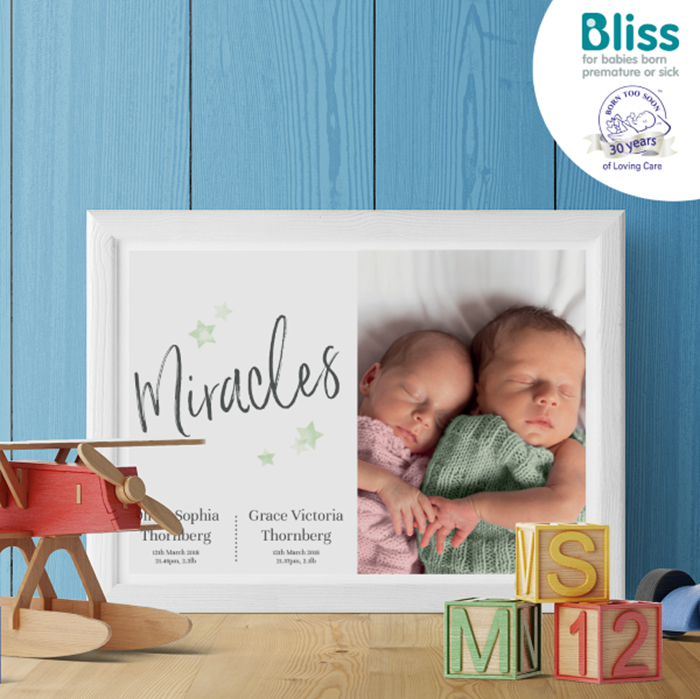 Picture of Multiple Miracles script baby personalised poster