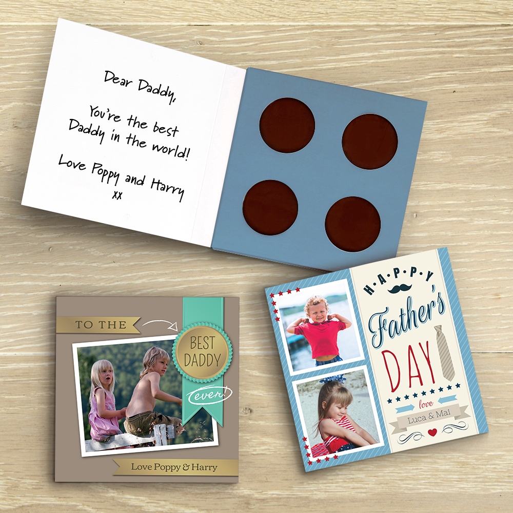Picture of The Coolest Dad personalised chocolate card
