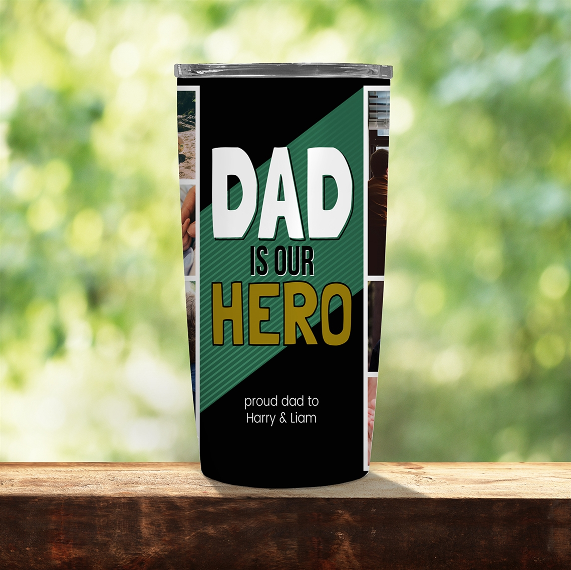 Picture of Dad Is Our Hero 20oz Tumbler
