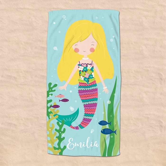 Picture of Blonde Hair Mermaid Beach Towel