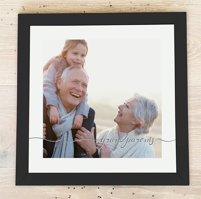 Picture of Square Grandparents script personalised poster