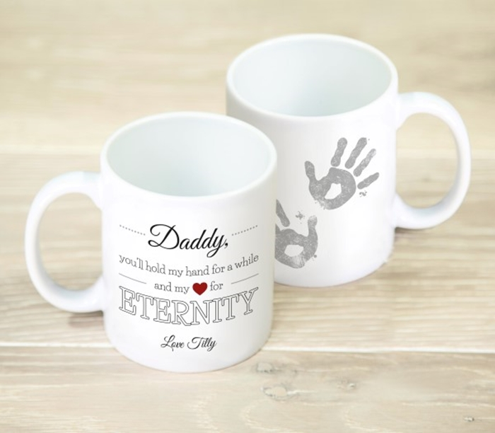 Picture of Hold my hand Daddy personalised mug