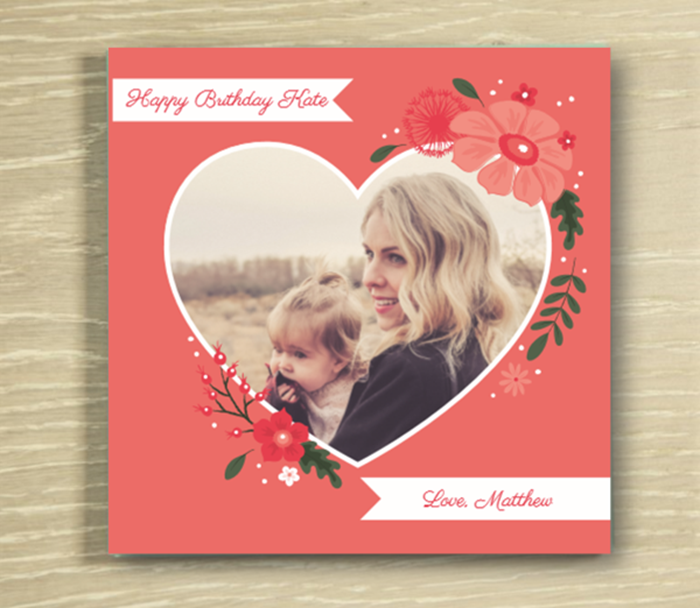 Picture of Beautiful Heart personalised chocolate card