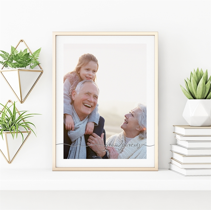 Picture of Grandparents Script Personalized Poster