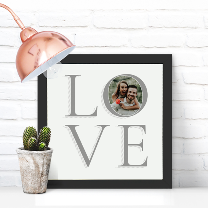 Picture of Square Love personalised poster