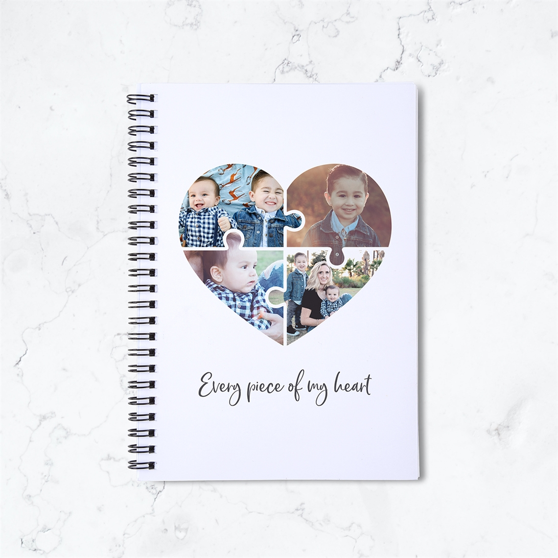 Picture of Jigsaw Heart Spiral Notebook