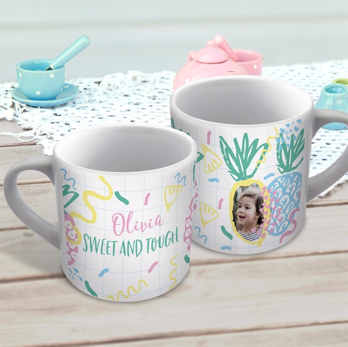 Picture of Pineapple child's photo personalised mug
