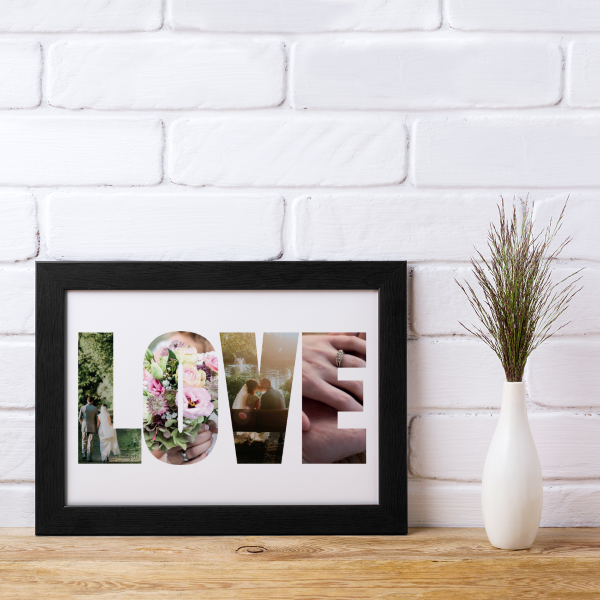 Picture of A4 Love photo personalised poster