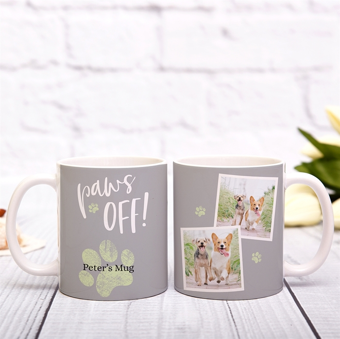 Picture of Paws Off Personalized Mug