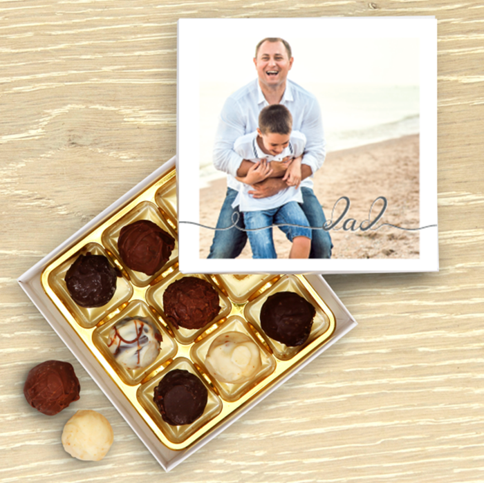 Picture of Dad script personalised chocolate box