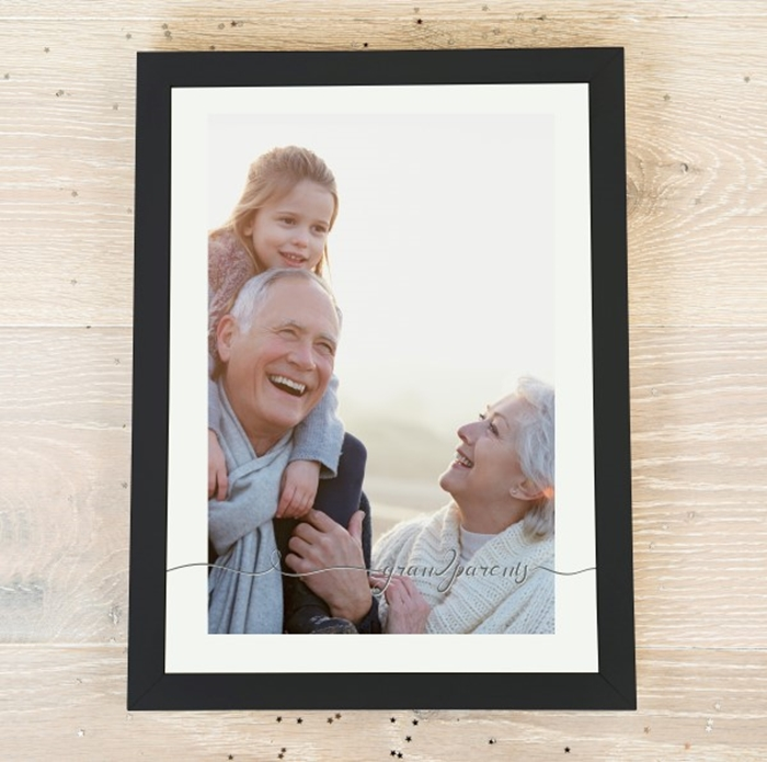 Picture of A4 Grandparents script personalised poster