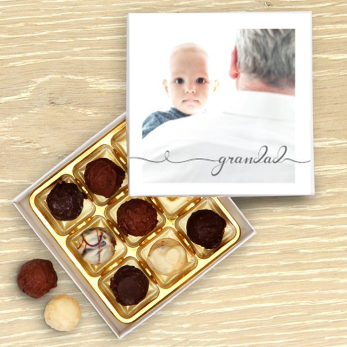 Picture of Grandad script personalised chocolate box
