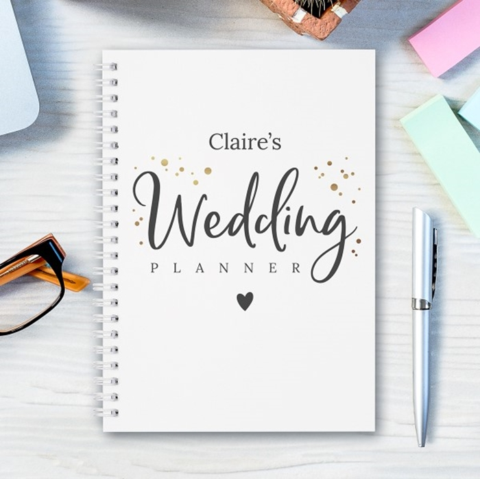 Picture of A5 Wedding Planning personalised hardcover spiral notebook