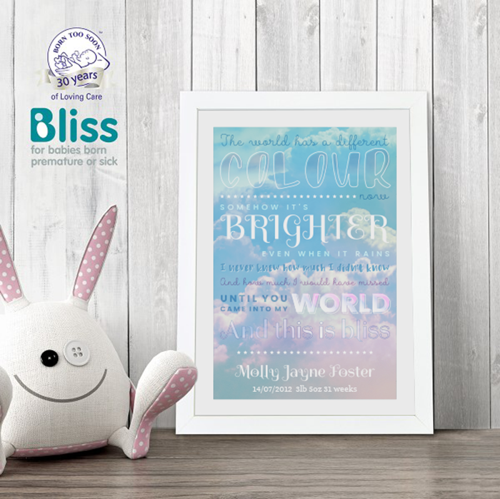 Picture of This is bliss poem personalised poster