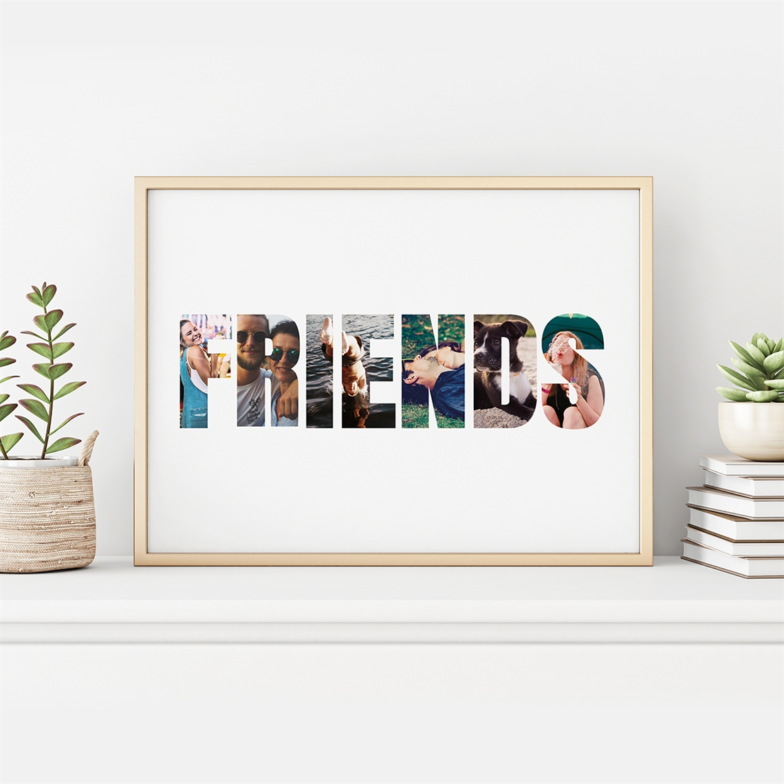 Picture of Friends Photo Personalized Poster