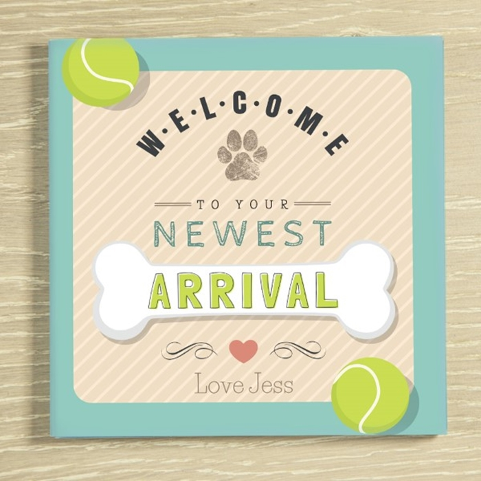 Picture of Welcome to your new dog/puppy personalised chocolate card