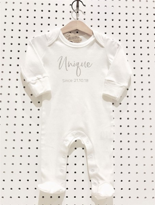Picture of Unique sparkly personalised sleepsuit