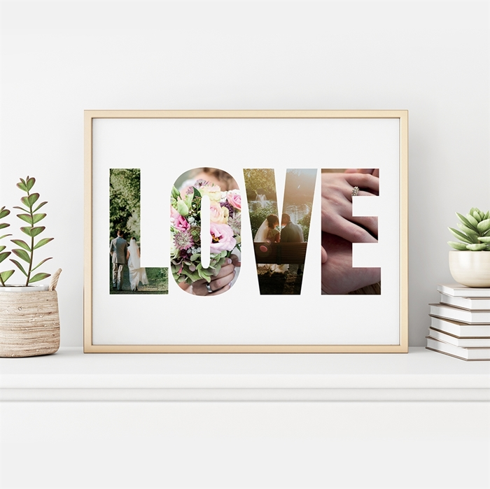 Picture of Love Photo Personalized Poster