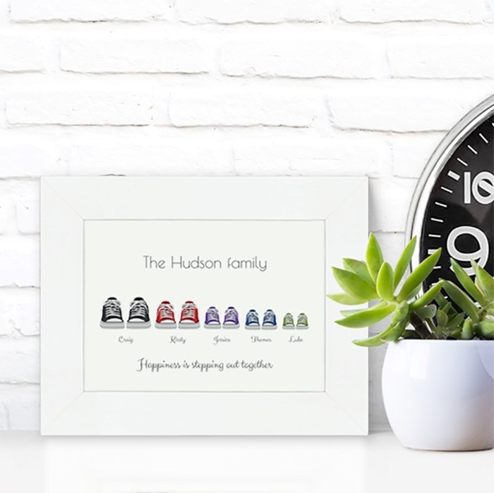 Picture of A5 Converse-style family personalised poster