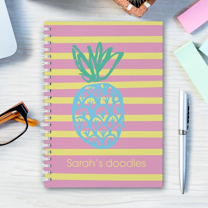 Picture of A5 pineapple hardcover spiral notebook