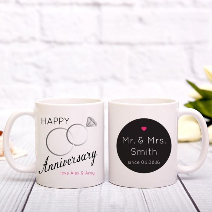 Picture of Happy Anniversary personalised mug