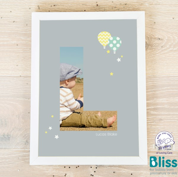 Picture of A4 Baby Alphabet 'L' personalised poster