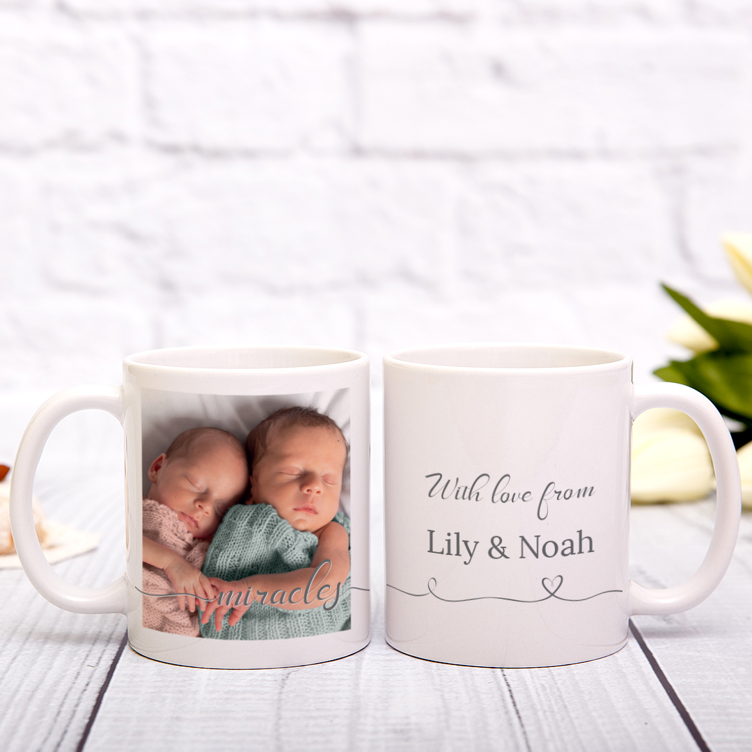 Picture of Miracles Script Personalized Mug