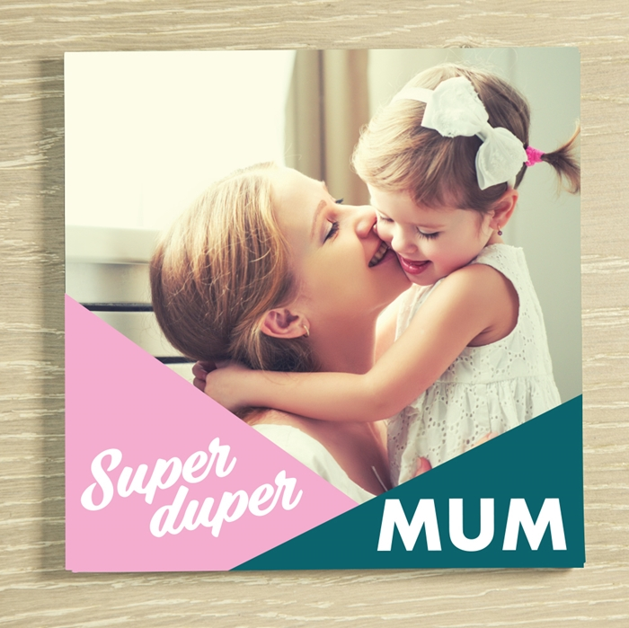 Picture of Super Duper Mum personalised card