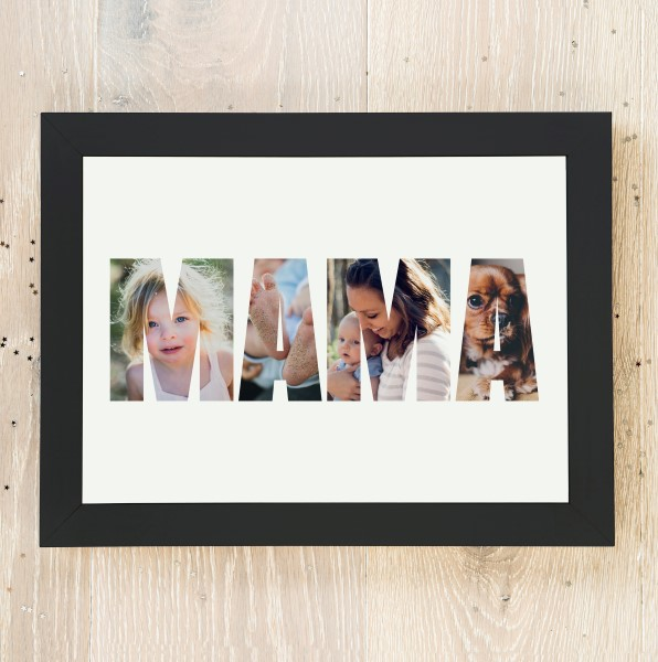 Picture of A3 Miracle Daddy photo personalised poster