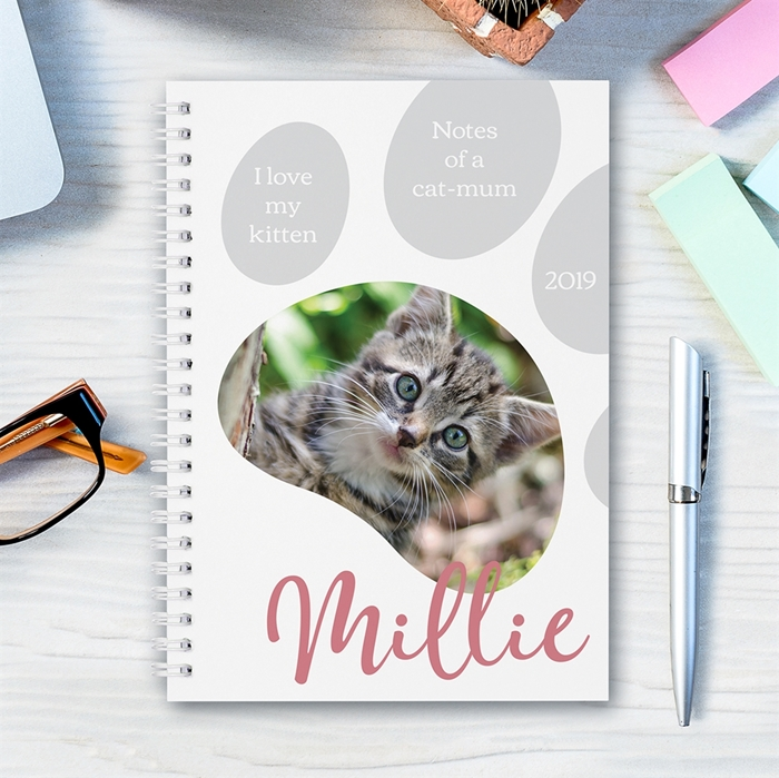 Picture of A5 Paw Photo hardcover spiral notebook