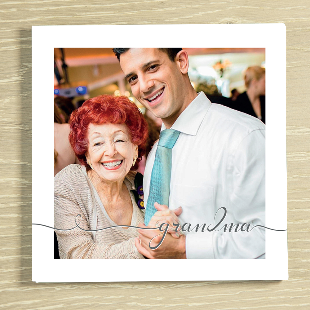 Picture of Grandma script personalised chocolate card