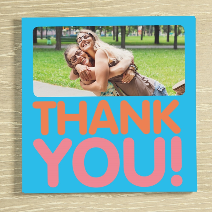 Picture of Thank you personalised chocolate card