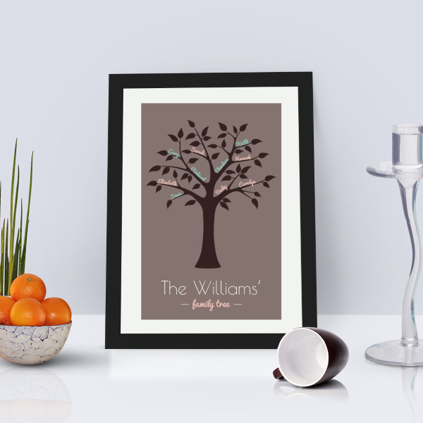 Picture of A4 Family Tree personalised poster