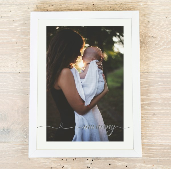 Picture of A4 Mummy script personalised poster