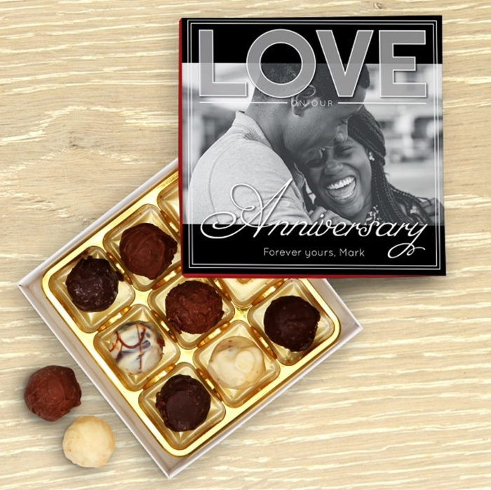 Picture of Love on Our Anniversary Chocolate Box