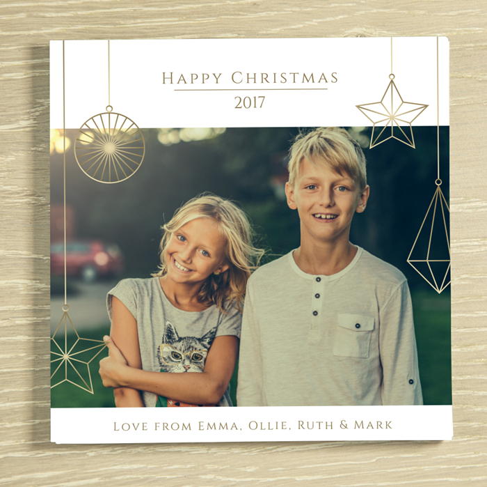 Picture of Contemporary Christmas Photo Personalised Chocolate Card