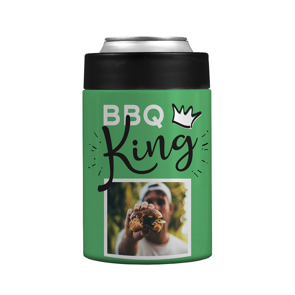 Picture of BBQ King Green Stainless Steel Koozie