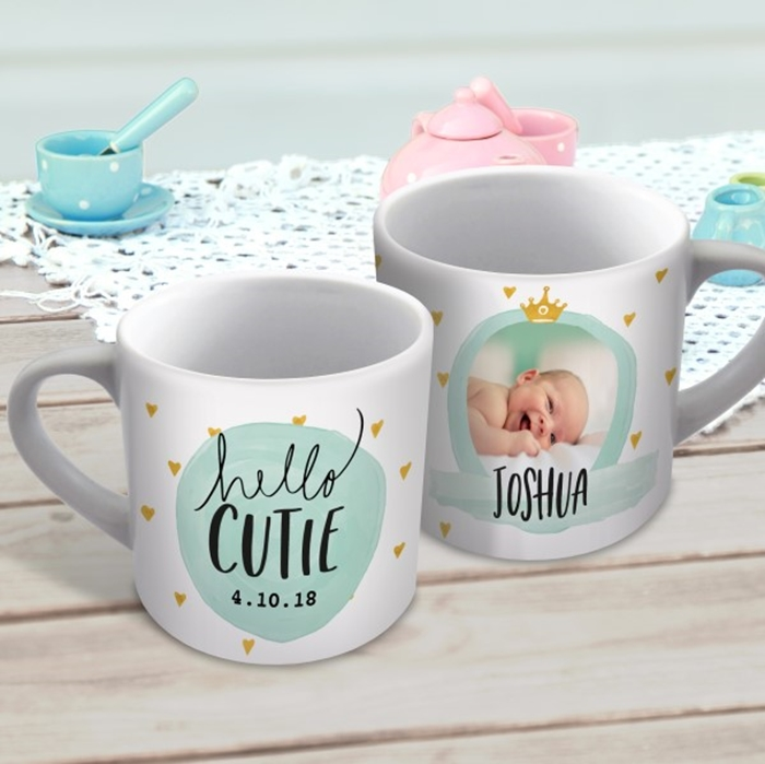Picture of Hello cutie child's personalised mug