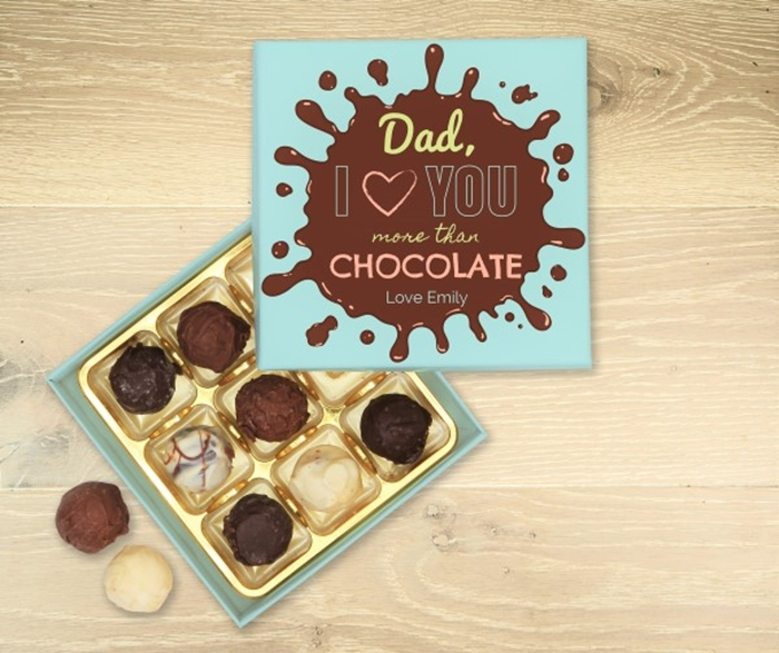 Picture of I love you more than chocolate personalised chocolate box