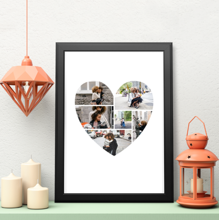 Picture of A3 Heart Photo personalised poster