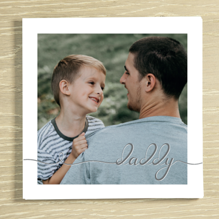 Picture of Daddy script personalised chocolate card