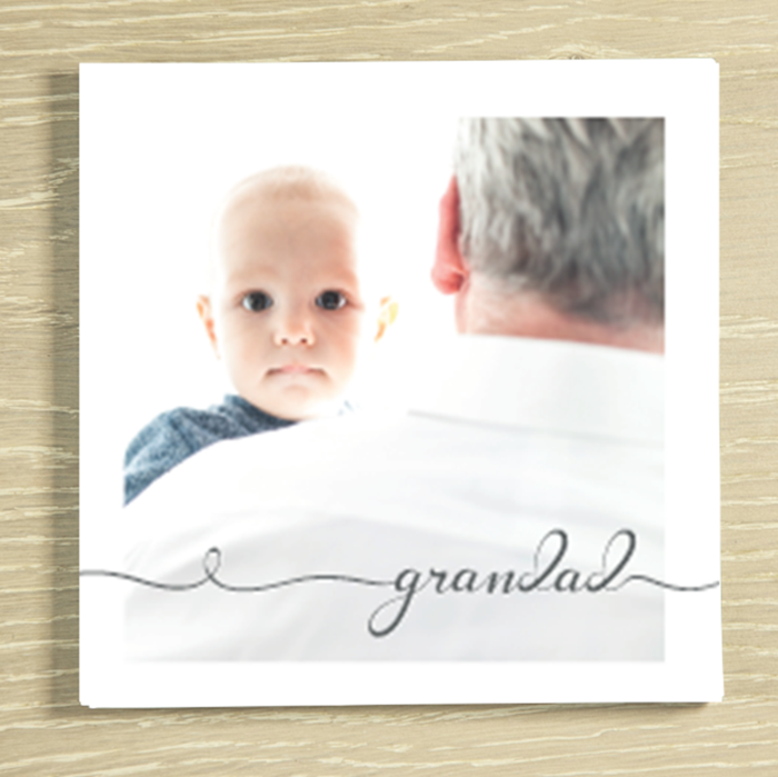 Picture of Grandad script personalised chocolate card