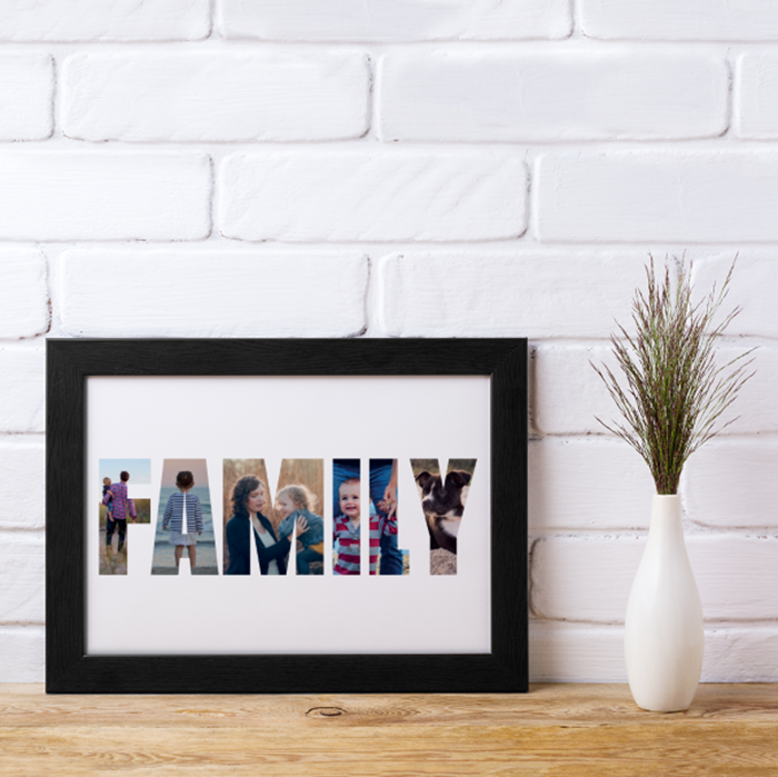 Picture of A4 Family Photo personalised poster