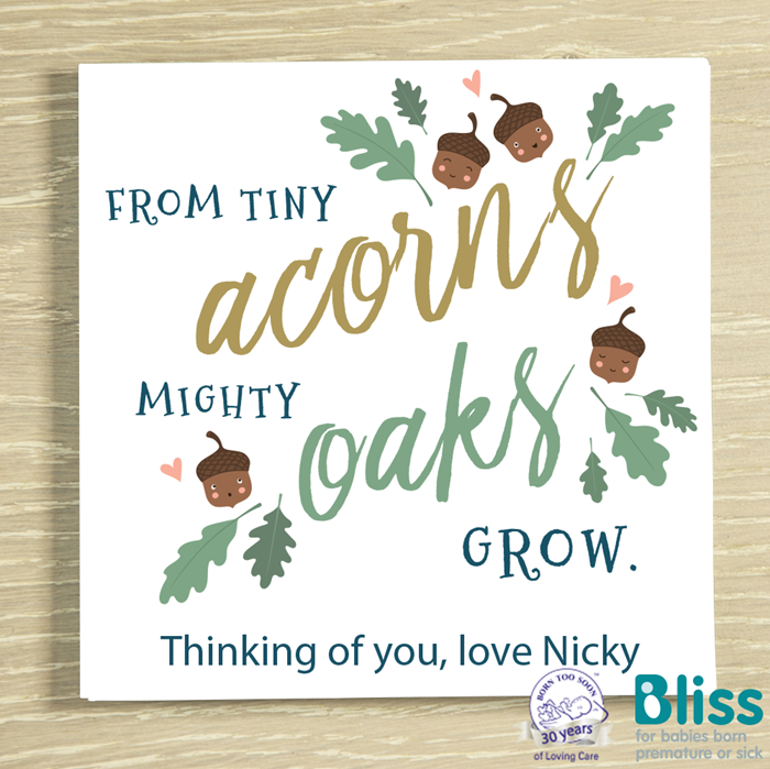 Picture of From tiny acorns personalised chocolate card