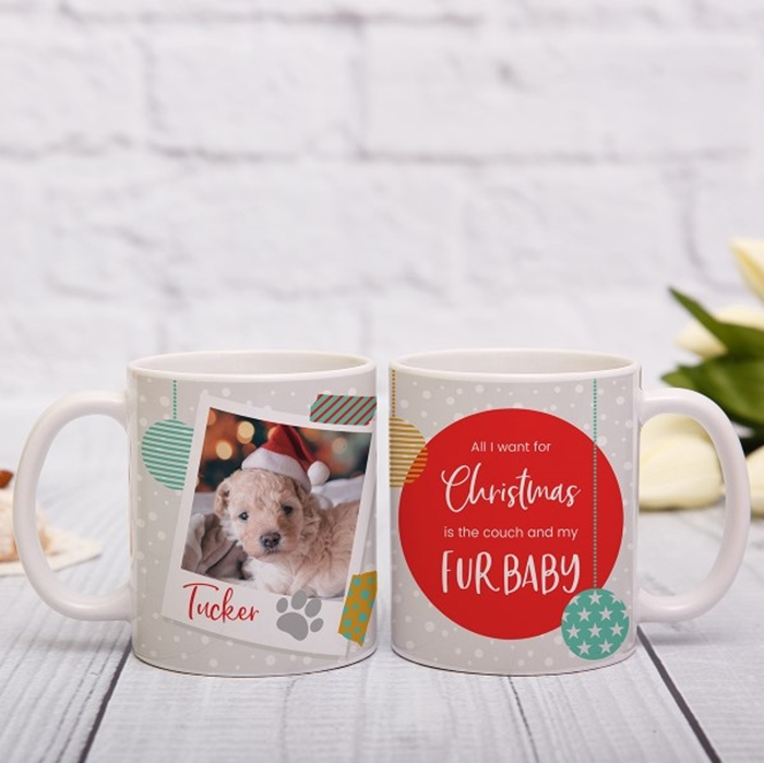 Picture of All I want for Christmas pet personalised mug