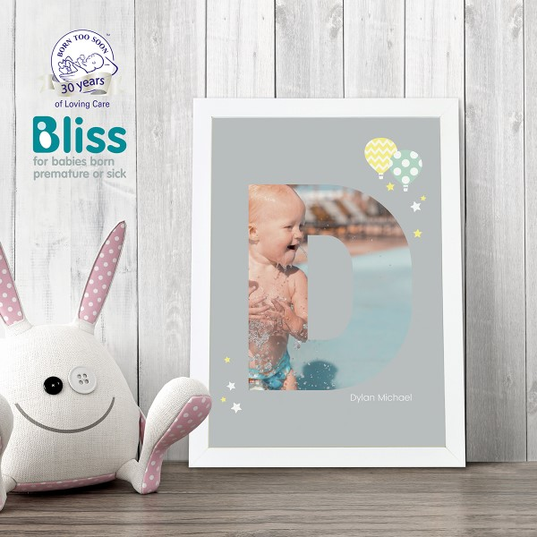 Picture of A4 Baby Alphabet 'D' personalised poster